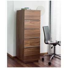 Madison tall office cabinet walnut