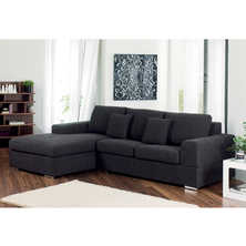 Verona left hand corner sofa bed charcoal