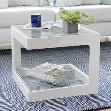 Modular gloss side table white