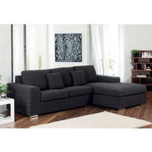 Verona right hand corner sofa bed charcoal