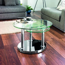 Eclipse rotating coffee table clear