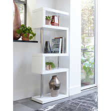 Contour slim shelving white