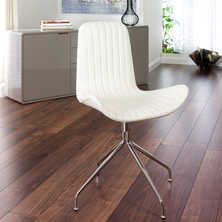 Wing faux leather chair white