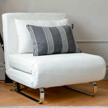Stylus Faux Leather Chair Bed White