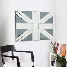 Union jack mirror grey