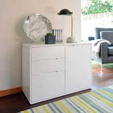 Basel compact sideboard white