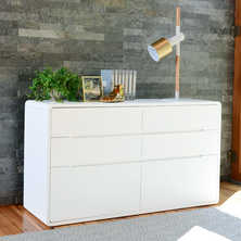 Basel six chest of drawers white