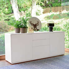 Basel two door sideboard white