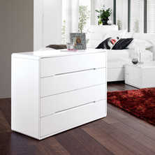 Monza wide chest of drawers white