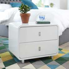 Malone bedside table white