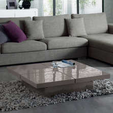 Four block storage coffee table stone