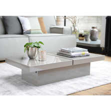 Two block storage coffee table stone