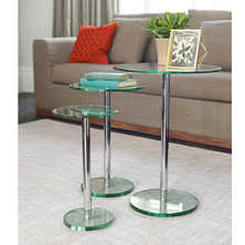 Bella glass side tables set clear