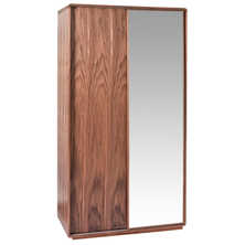 Malone sliding mirror door wardrobe walnut