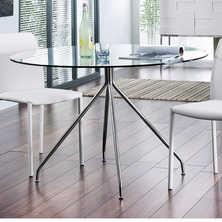 Rocco glass dining table