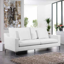 Oslo three seater sofa white