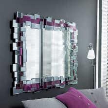 Mosaic mirror aubergine