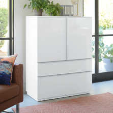 Madison storage cupboard white