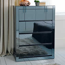 Reflect mirrored tall chest of drawers
