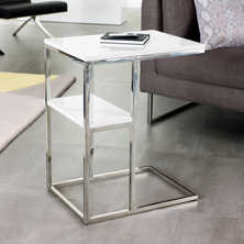 Marco laptop table with shelf white