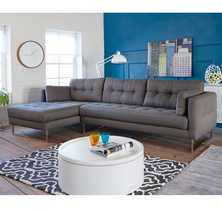 Paris left hand corner sofa dark grey