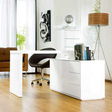 Executive office desk white