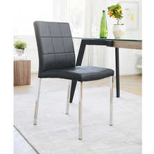 Jenkins faux leather dining chair black