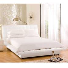 Kingsley padded bed king white