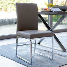 Loop leg dining chair stone