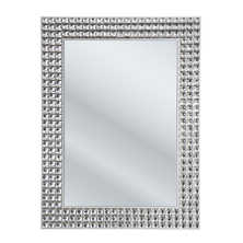 Crystal rectangular mirror small