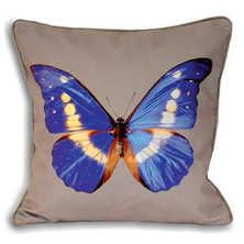 Butterfly cushion purple