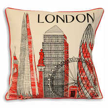 London iconic landmarks cushion