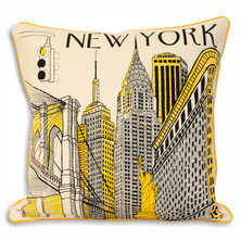 New York City iconic landmarks cushion