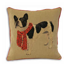 Frenchie cushion red