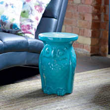 Owl side table turquoise