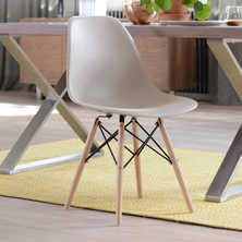Eiffel dining chair with beech legs ...