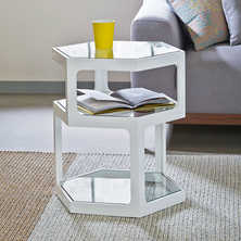 Hex side table white