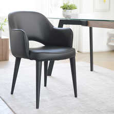 Lois dining chair black