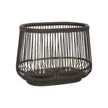 Rattan candle holder small