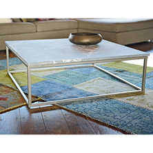 Marble top coffee table square