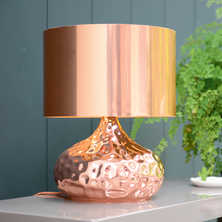 Copper table light