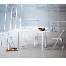 Spartan extending dining table white