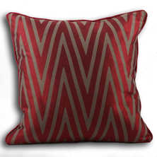 Wave cushion red