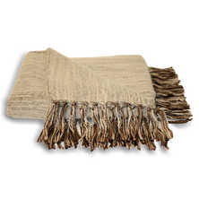 Fringe throw natural