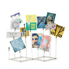 Freestanding cube photo display stand