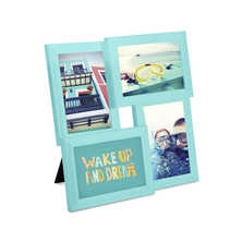 Vertical and horizontal photo frame blue
