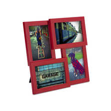 Vertical and horizontal photo frame red