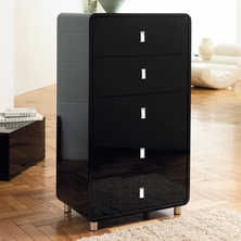 Malone five drawer chest black