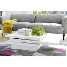 Rotate square coffee table white