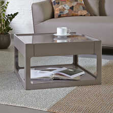 Memphis side table with drawer stone